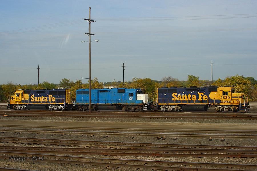 BNSF and EMDX Locomotives