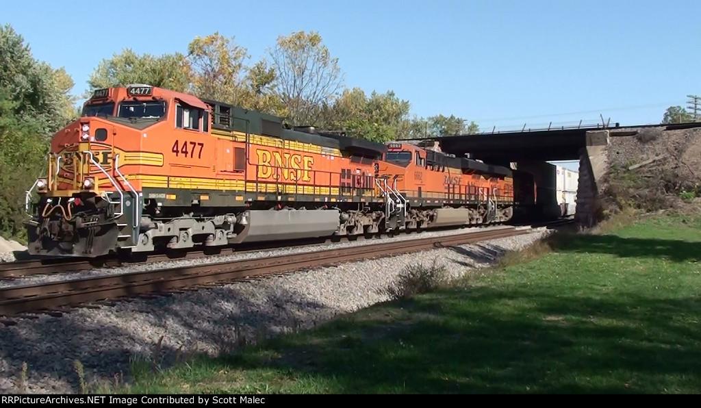 BNSF 4477, 6662 & 7338