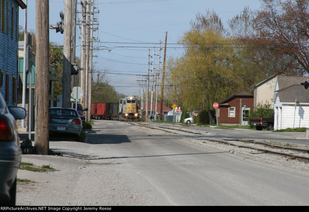 LSRC 1169 rounding curve downtown