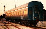 Grand Trunk Western Railroad business car at Elsdon Yard.  Chicago Illinois USA.  August 1983.
