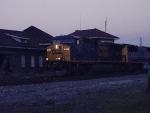 CSX 599 at dusk