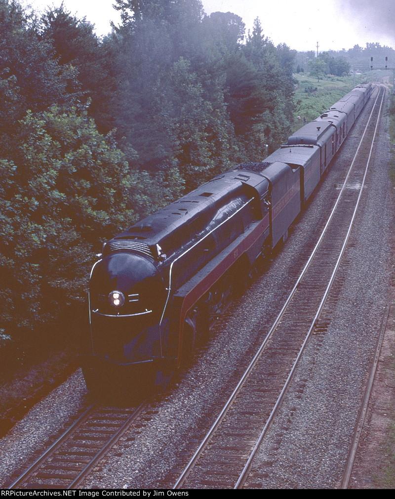 N&W 611 first trip north from Birmingham