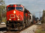 CN 2603 leads M393 west through Durand