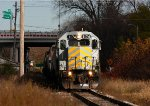 LSRC 1174 leads 9 cars through Saginaw on it's way out to Paines to interchange with MMRR