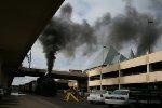 "SOO 2719's smoke is framing ""The Depot"""