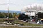 SOO 2719 steaming across HWY 61 crossing