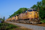 UP 7014 Nothbound at Nicolas Road - 6 UP locomotives on CSX