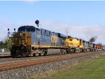 CSX 5487 leads a mixed freight with 8 units.