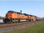 BNSF SD70ACe 9270 leads an empty coal train westbound.