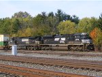 NS SD70M-2 2676 leads a double stack east.