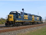 CSX GP38-2 2764 heads west light