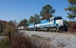 GMTX 9075 leading 54A southbound just north of the state line