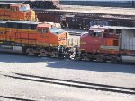 BNSF 680 coupling up to BNSF 7623