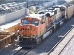 BNSF 6196 in tail end charlie mode