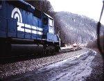 CR 6496 passing Amtrak
