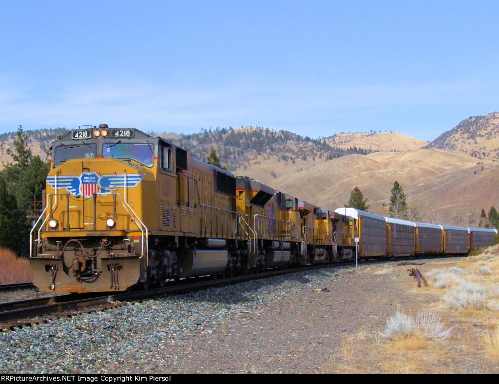 UP 4218 WB Manifest Through Verdi, Nevada (Roseville Subdivision)