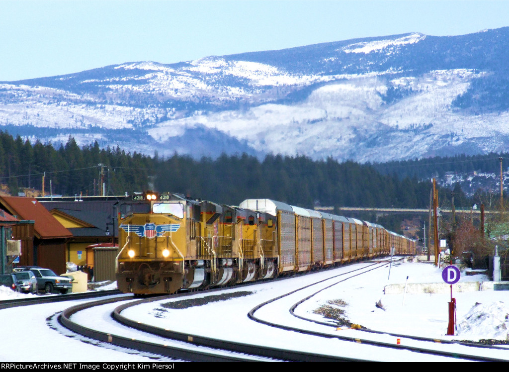 UP 4218 WB Manifest Through Truckee, CA (Roseville Subdivision)