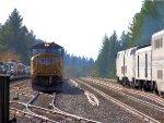 UP 4909 with Amtrak Train #5 (California Zephyr)