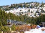 "AMTK 97 & 42 Train #6 the ""California Zephyr"" Donner Pass"