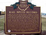 Rail Speed Record historical marker
