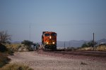 BNSF 6974 rolls into the BNSF Barstow yard with a Hot Z heading eastbound.