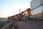 BNSF 6802 with Her Sisters BNSF 6894 and BNSF 6808 (Lead Unit) pass me by as they enter the BNSF Barstow Yard off the Mojave Connecter!!