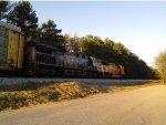 CSX 581 on NS tracks