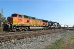 BNSF 4188 and NS 3398