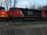 CN 2592 trailing on CN 384