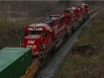 SOO 6047 trailing on CP 244 at Lobo