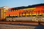 BNSF 6816 the Newest C4 todate I've photographed rolls east as the Rising Sun Reflects off Her 8 Day Old BNSF/GE Swoosh Logo Paint Job :))).