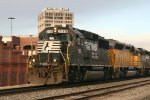 Norfolk Southern 7115 passing through the Bull City