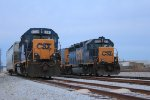 CSX 6391, 6436 in Memphis Jct. Yard