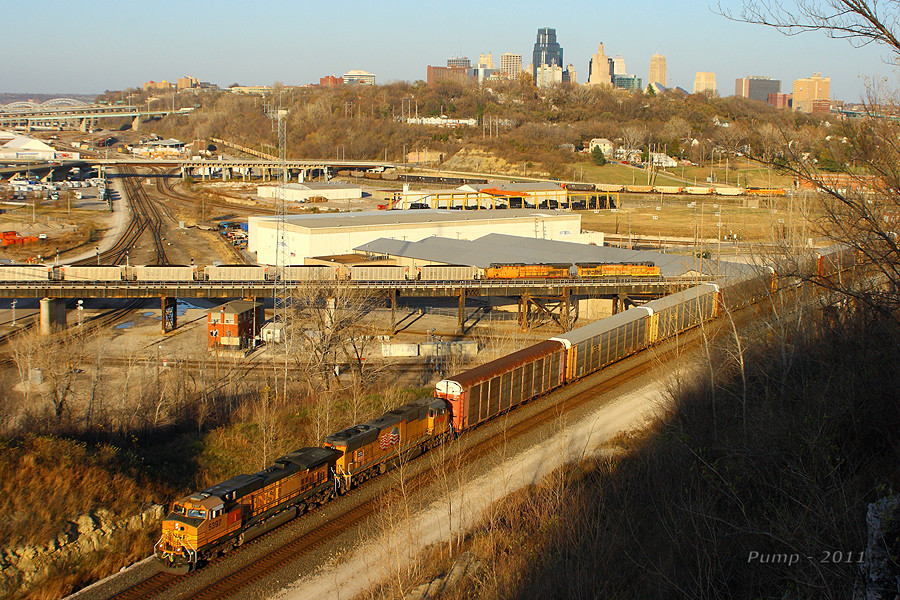 BNSF and UP Trains