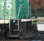 BNSF 1515, close up of rear pilot