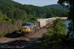 CSX Q268 rounds the bend