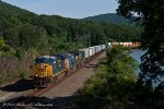A short CSX Q008 makes a southbound move