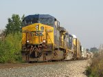 CSX 445 & 7668 roll through the sag with Q335-01