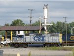 CSX 2506 sits outside of the engine house