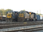 CSX 2659, 8457 & 8050 sit at the west end