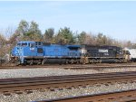 NS 8467 still wears is former Conrail colors.