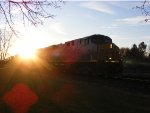 This shot is my favorite with the way the train looks coming out of the sun.