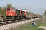 CN M393 With CN 5632 and CN 2135 Former AT&SF 800