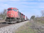 CN 5770 Leads M39731-17 by Durand, shortly after passing here this train hit a deer.