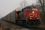 CN 2653 rolls off the holly with 371