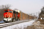 CN 2231 is a Dashin' thru the snow with M393