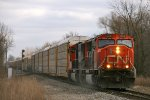 A451 Rolls off the holly behind a pair of SD75Is