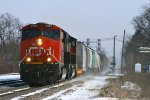 M395 heads west behind a GEVO and SD75I