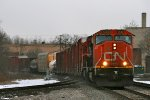 A grungy SD75I Leads M396 East on main 2
