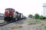 CN Train 502 makes its way outta Durand yard with another Beat up C44-9WL